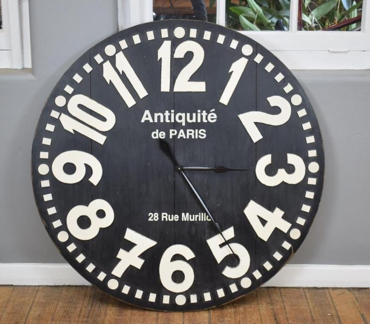 A DECORATIVE PARISIAN WALL CLOCK (100cm D)