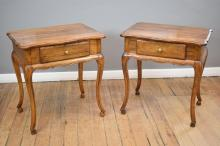 A PAIR OF FRENCH LOUIS XV STYLE BEDSIDE TABLES (73cm h x 68cm w x 50cm l)