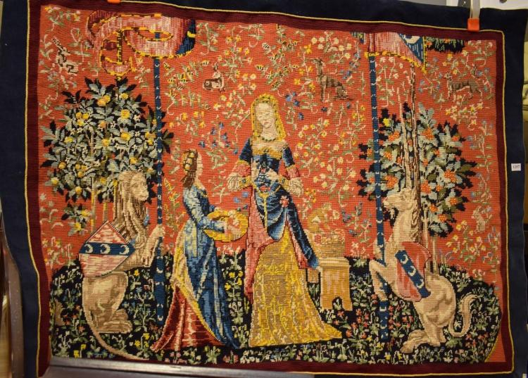 A 'CLUNEY' SIXTH SENSE TAPESTRY