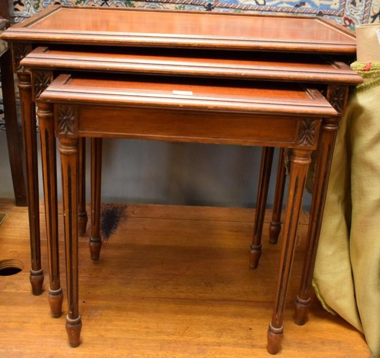 A LOUIS XVI STYLE NEST OF TABLES