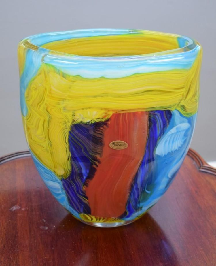 A RIKARO ART GLASS VASE