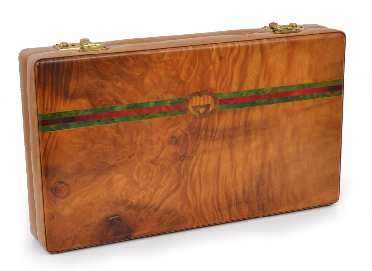 A BACKGAMMON SET BY GUCCI