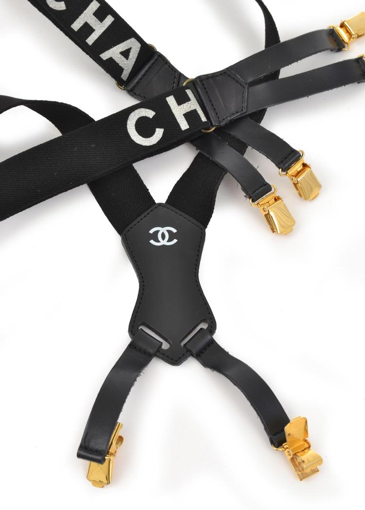 A PAIR OF BRACES BY CHANEL