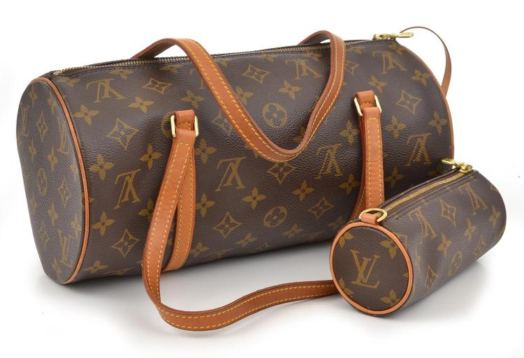 A PAPILLON HANDBAG BY LOUIS VUITTON