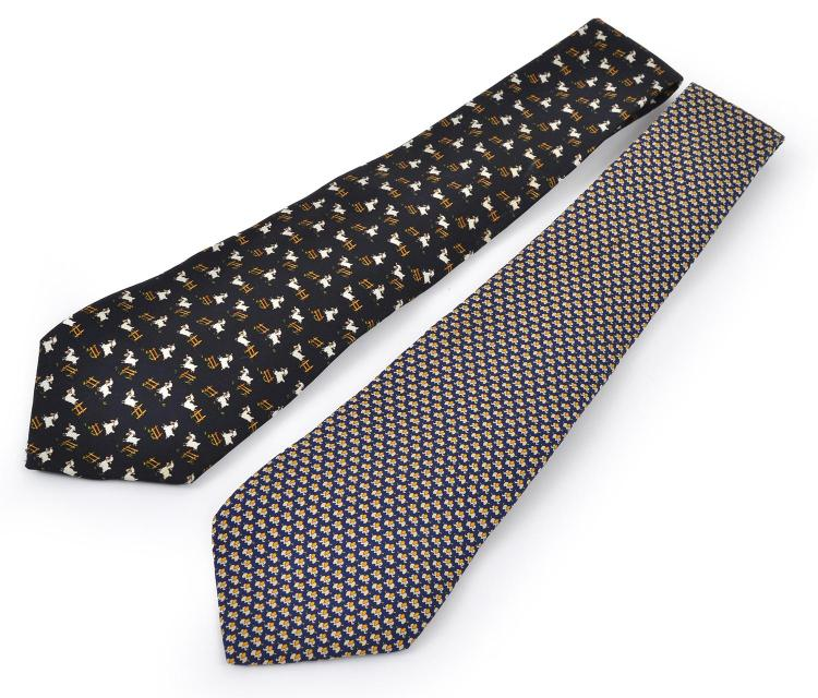 TWO TIES BY SALVATORE FERRAGAMO