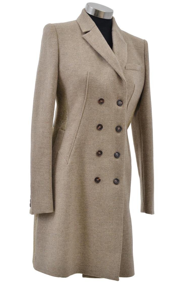 A LADIES DOUBLE BREASTED COAT BY GIVENCHY