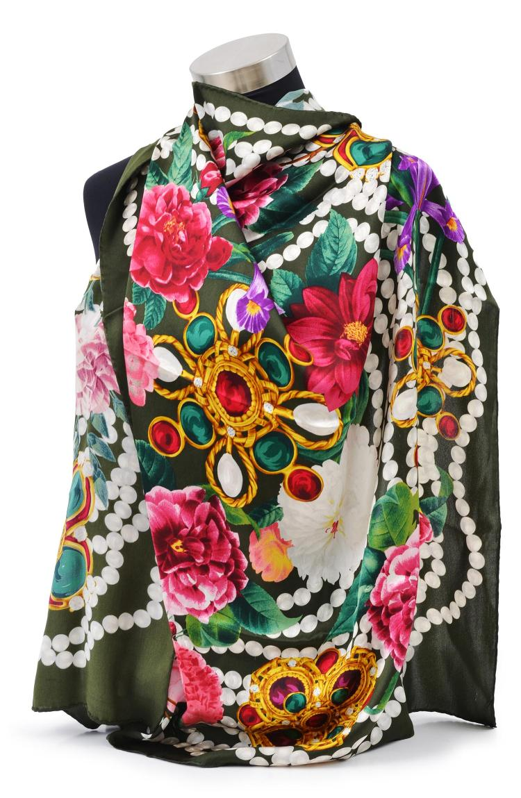 A SILK SCARF BY CHANEL