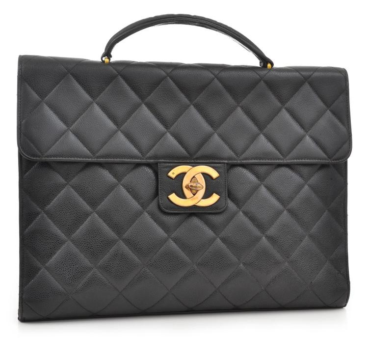 A VINTAGE BREIFCASE BY CHANEL