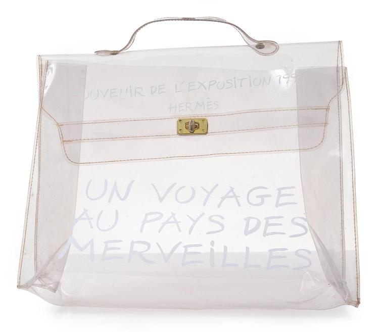 A LIMITED EDITION TRANSPARENT VINYL KELLY BAG BY HERMÈS
