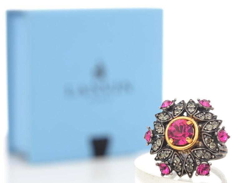 A COCKTAIL RING BY LANVIN