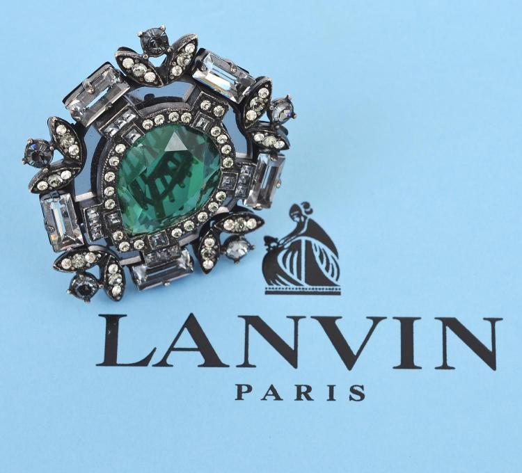 A COSTUME RING BY LANVIN