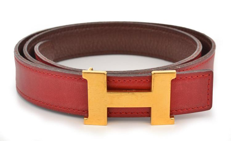 A LADIES BELT BY HERMES