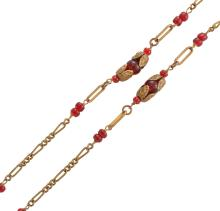 A GEM-SET NECKLACE BY CHANEL