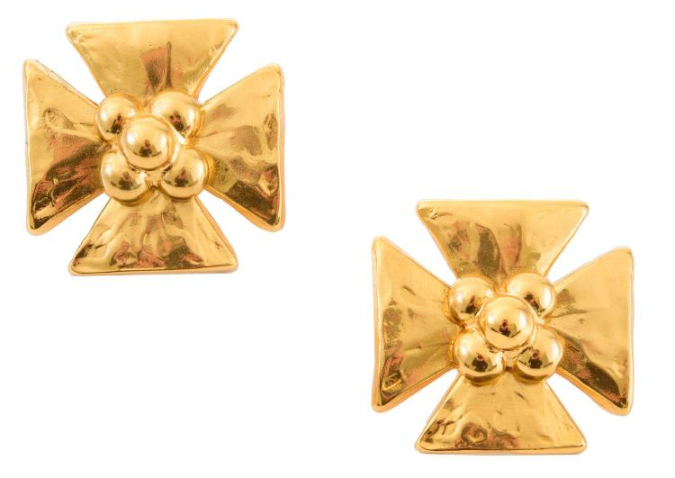 A PAIR OF EARRINGS BY YVES SAINT LAURANT