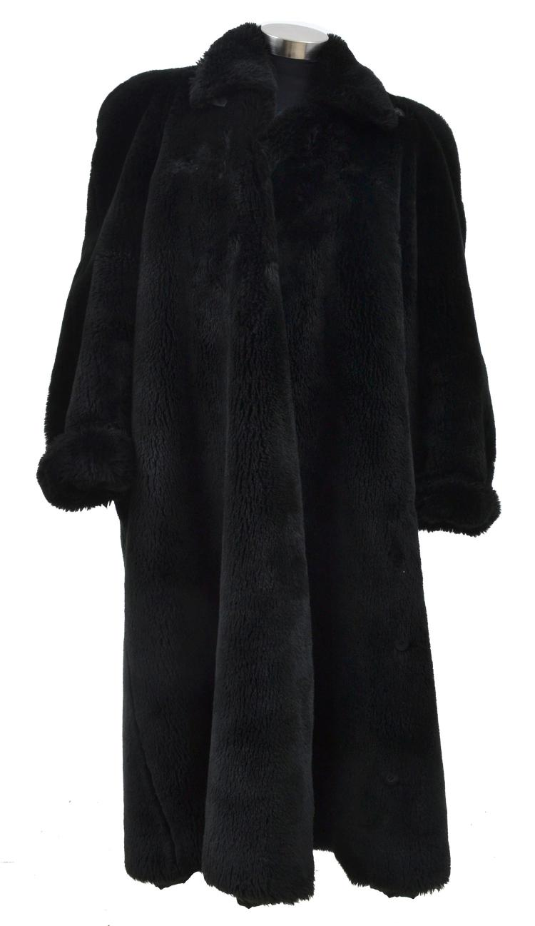 A FAUX FUR COAT BY SONIA RYKIEL