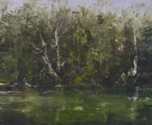 GEOFFREY DYER (born 1947) D'Entrecasteaux Waterhole I 2013 oil on linen