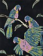 SIGNED ILLEGIBLY LOWER RIGHT  Lorikeets (after Margaret Preston) 1985 screenprint 50/99