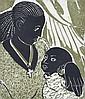 JO HANNAN (20TH CENTURY) Black Madonna woodblock 21/30