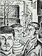 V. MATHAUSER (EUROPEAN SCHOOL, 20TH CENTURY) Illustration for Karel Vokác's book of Poetry Utkáno z Dymu 1951 bookplate