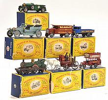 7 X MATCHBOX MODELS OF YESTERYEAR MODELS INCLUDING