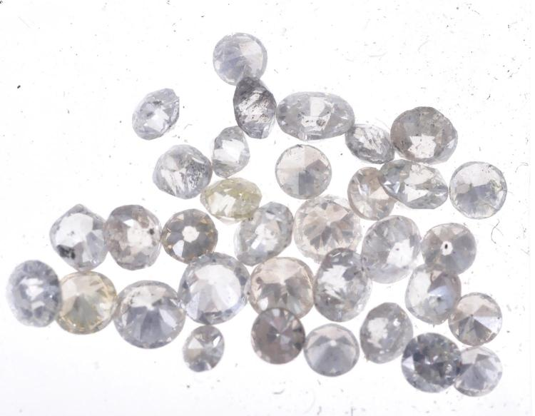 A PARCEL OF LOOSE OLD EUROPEAN CUT DIAMONDS TOTALLING APPROXIMATELY 2.02CTS