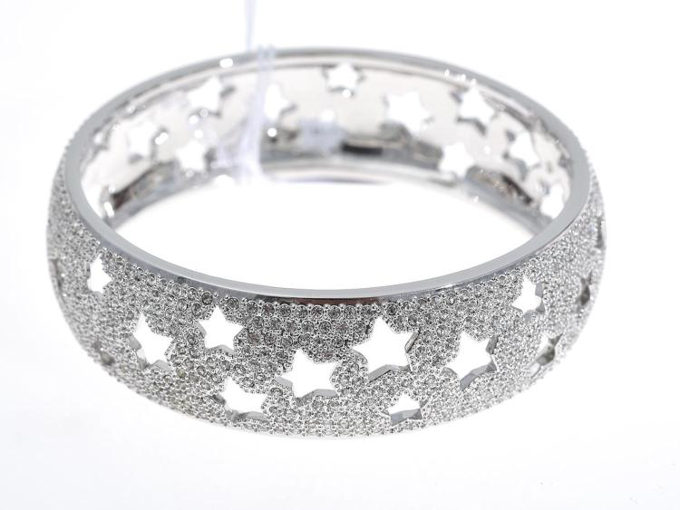 A SWAROVSKI CRYSTAL BRACELET WITH BOX AND PAPERS