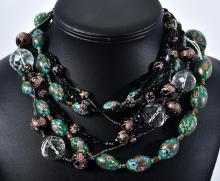 THREE VINTAGE VENETIAN GLASS BEAD NECKLACES