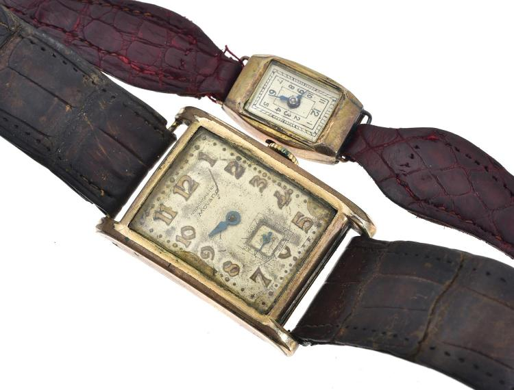 TWO VINTAGE WRISTWATCHES BOTH A/F