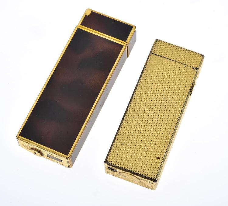 TWO LIGHTERS INCLUDING CARTIER AND DUNHILL
