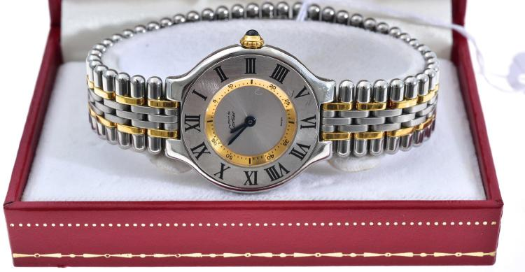 A CARTIER MUST DE CARTIER WATCH IN STAINLESS STEEL