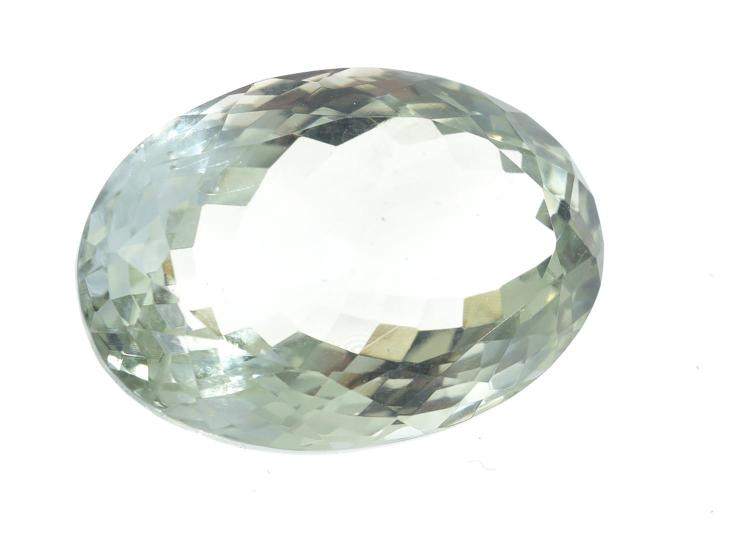 A LOOSE GREEN AMETHYST