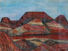 JILL NOBLE (born 1962), 24 Hours East of Alice 1990, watercolour and gouache