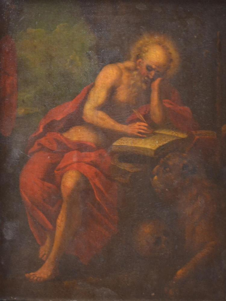 ARTIST UNKNOWN, RELIGIOUS MAN, OIL ON PANEL, 30 X 22CM
