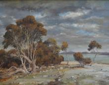 FRED KLIX, SALT CREEK- THE COORONG, OIL ON BOARD, 49 X 59.5CM