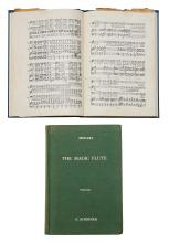TWO MUSIC SCORES FOR THE MAGIC FLUTE [MOZART], THE PROPERTY OF MARIE VAN HOVE PARKER OAM