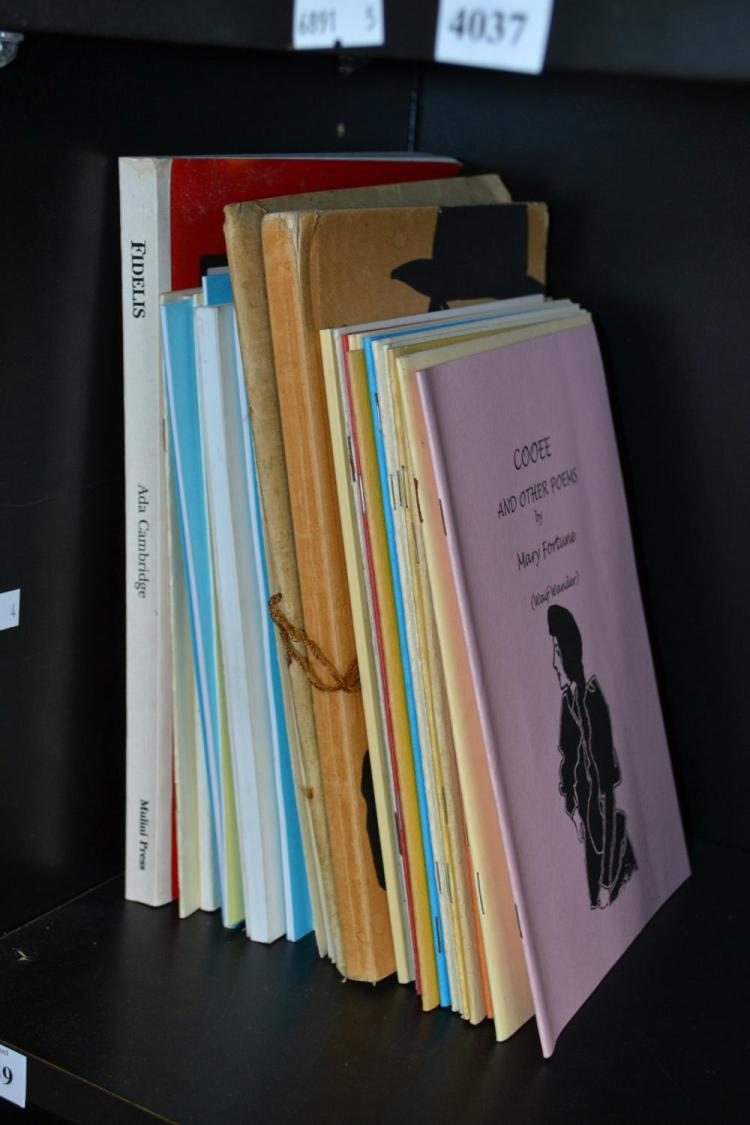 A COLLECTION VINTAGE AUSTRALIAN INDEPENENT PRESS EDITIONS INCLUDING 'FIDELISL' BY ADA CAMBRIDGE