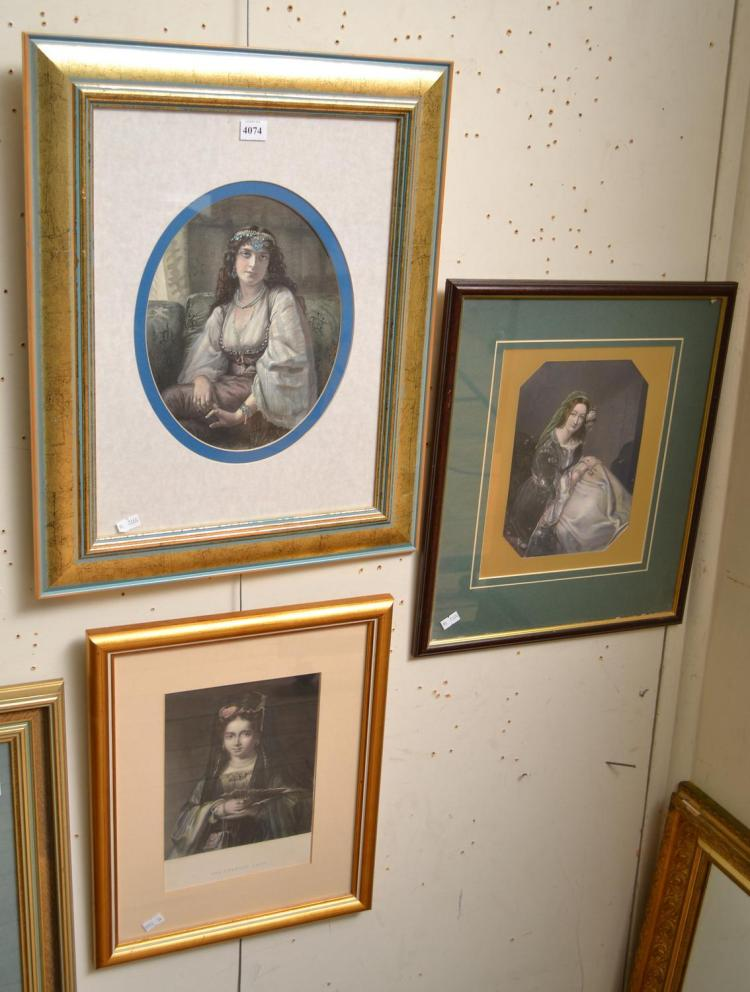 THREE FRAMED STEEL ENGRAVINGS