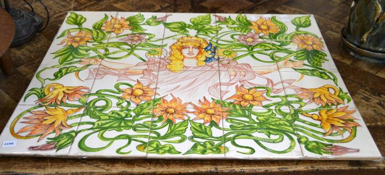 A PORTUGUESE HAND PAINTED TILE GROUP