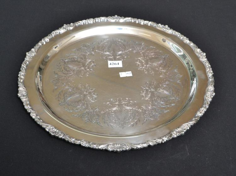 A SILVERPLATE TRAY