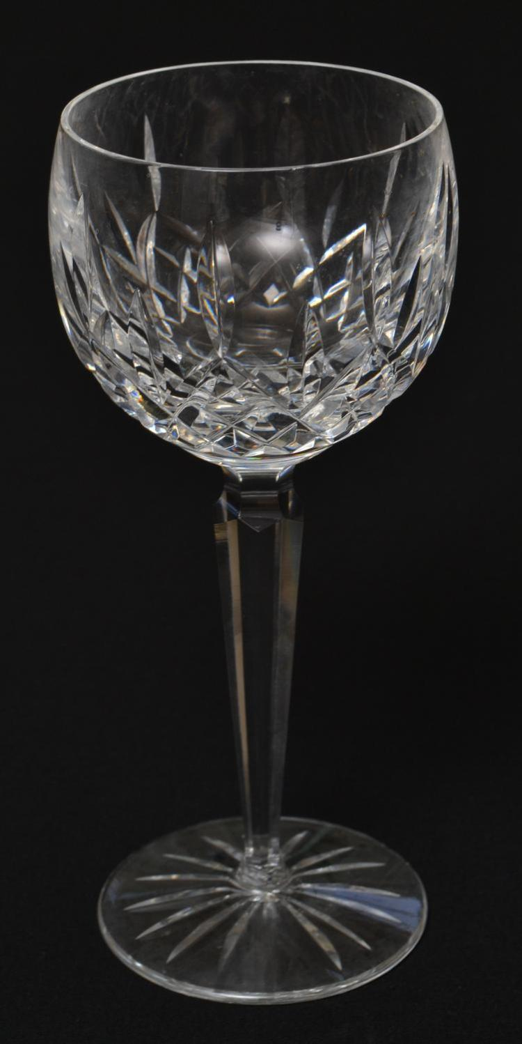 TWELVE WATERFORD 'LISMORE' HOCK WINE GLASSES