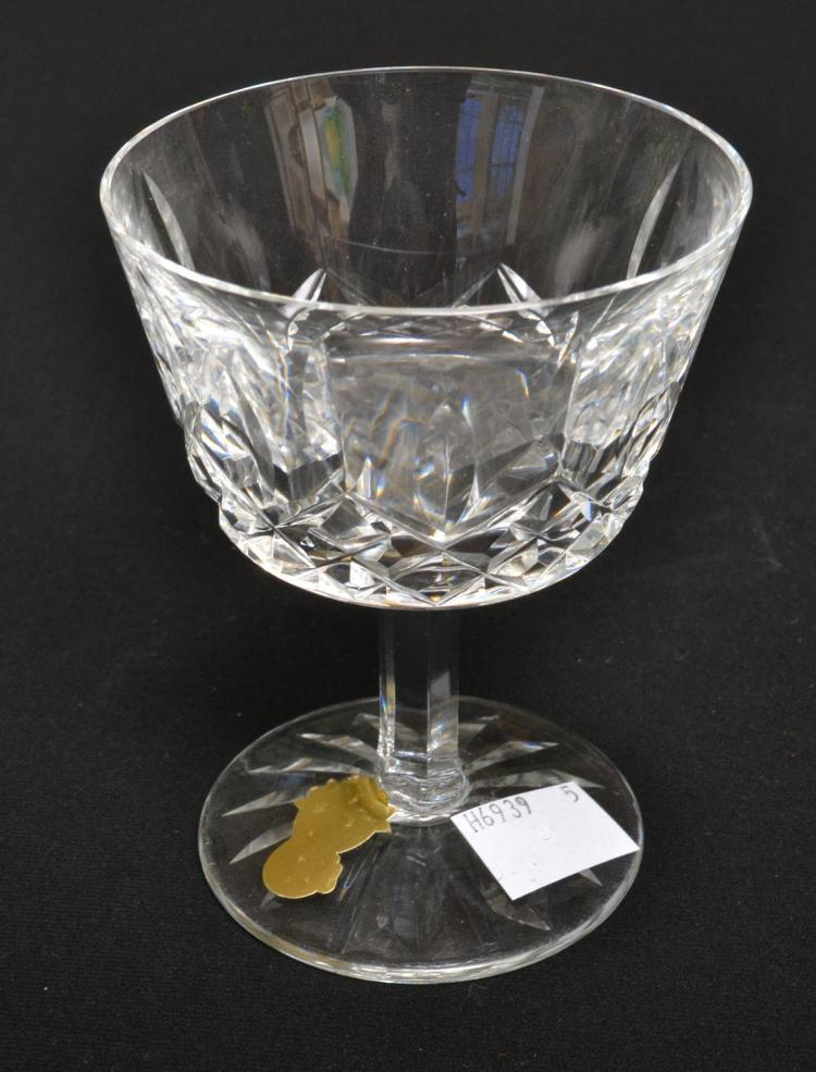 FOUR WATERFORD 'LISMORE' CHAMPAGNE GLASSES
