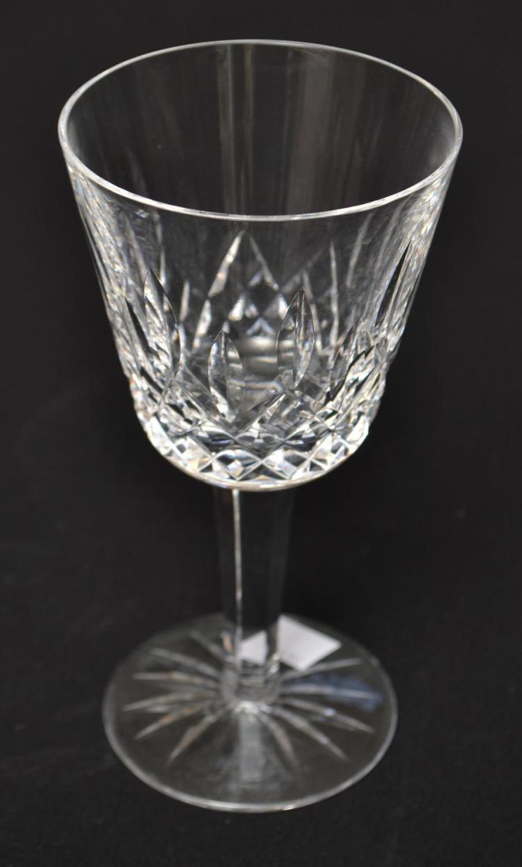 TEN WATERFORD 'LISMORE' WINE GLASSES
