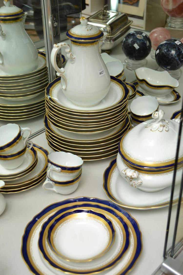 A HUTSHENREUTHER 'SCHLOSS BUHL' DINNER SERVICE FOR EIGHT
