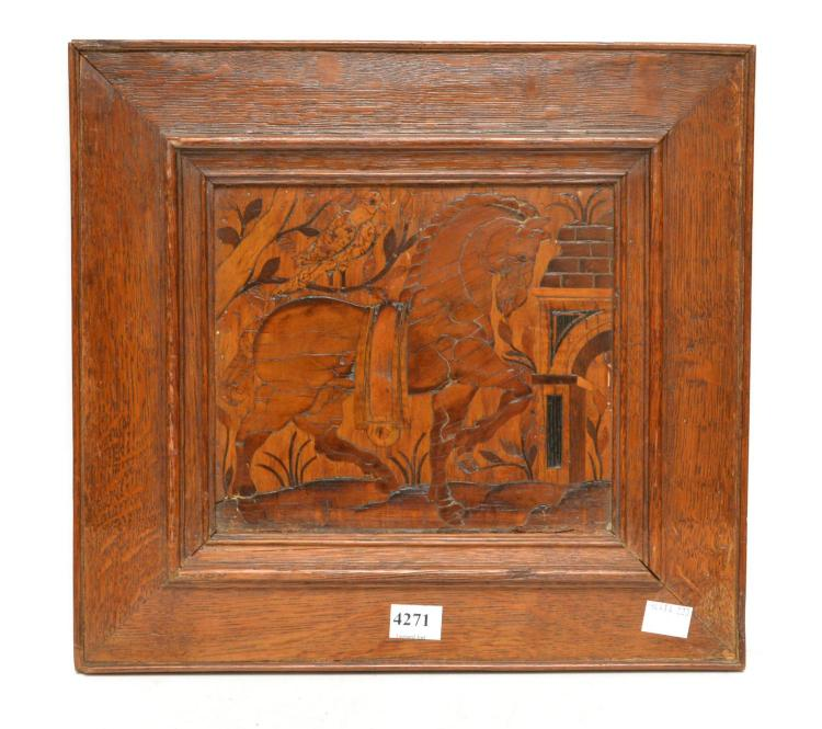 A TURN OF THE CENTURY FOLK ART TREEN WORK