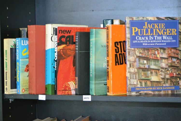 ONE SHELF OF VINTAGE AND MODERN TRAVEL LITERATURE
