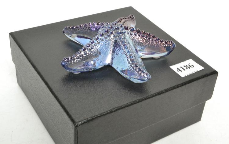 A BOXED LALIQUE ALEXANDRITE STARFISH