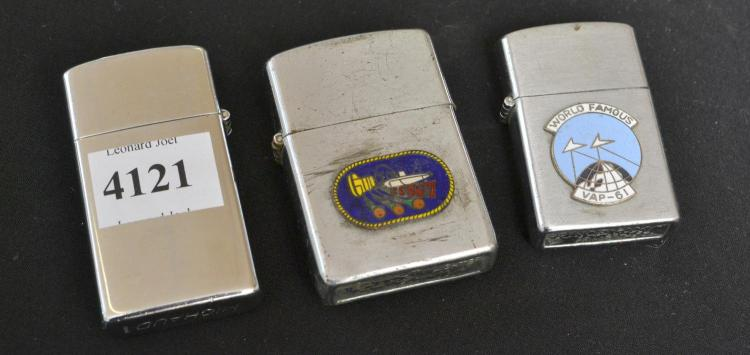 THREE 1970S VIETNAM WAR LIGHTERS