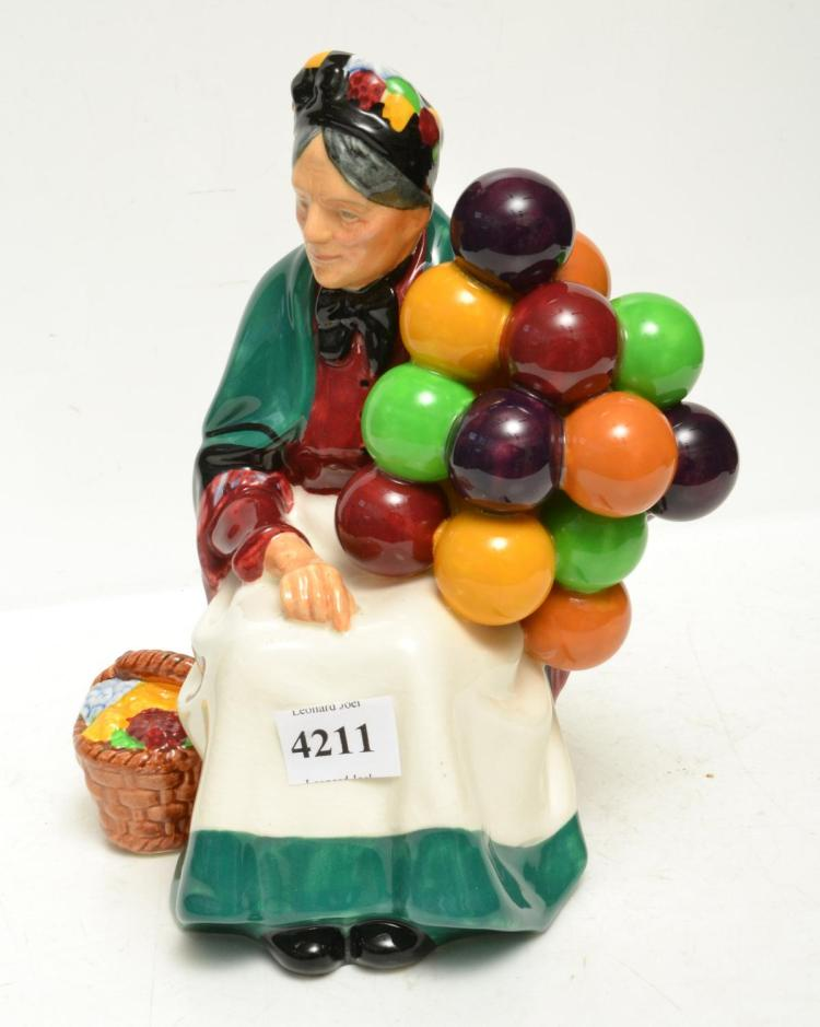 A ROYAL DOULTON 'OLD BALLON SELLER' FIGURE