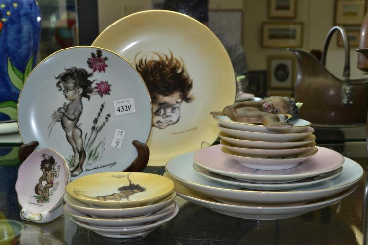 A COLLECTION OF BROWNING DOWNING PLATES AND FIGURES