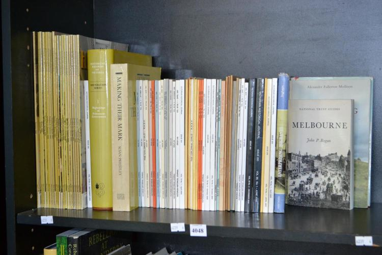 SHELF OF AUSTRALIAN HERITAGE AND VICTORIAN HISTORICAL JOURNALS